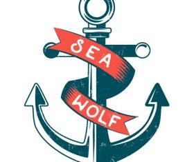 Nautical Anchor illustration design vector 04