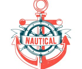 Nautical Anchor illustration design vector 05