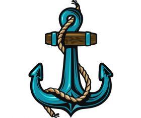 Nautical Anchor illustration design vector 06