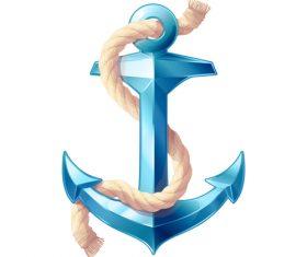 Nautical Anchor illustration design vector 07