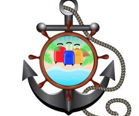 Nautical Anchor illustration design vector 08