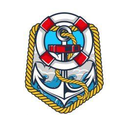 Nautical Anchor illustration design vector 09