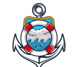 Nautical Anchor illustration design vector 10