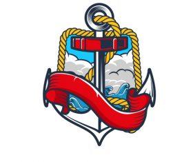Nautical Anchor illustration design vector 11