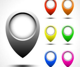 Navigation maps positioning icons vector set 02