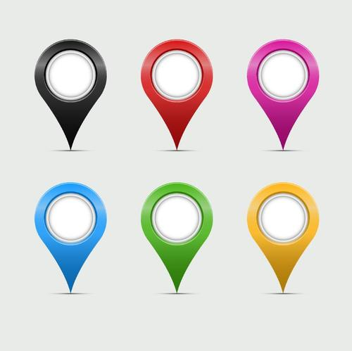 Navigation maps positioning icons vector set 03