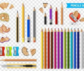Pencils design vector illustration