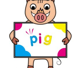 Pig illustration vector