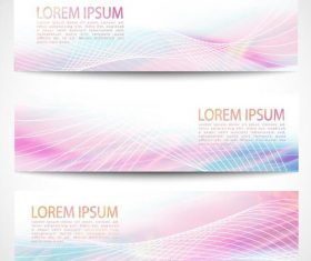 Pink abstract banners vectors 03