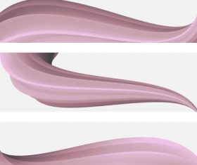 Pink abstract wave vector illustration