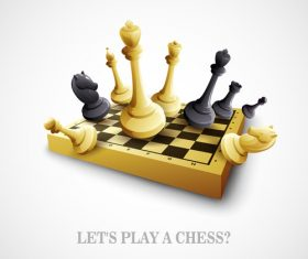 Play chess vector background 01