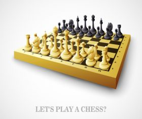 Play chess vector background 02