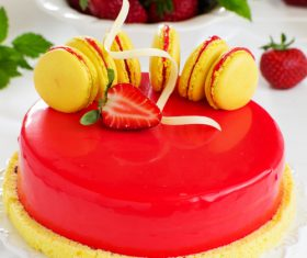 Pretty Art cake Stock Photo 06