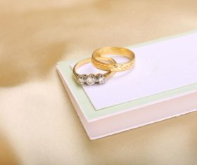 Pretty wedding ring Stock Photo