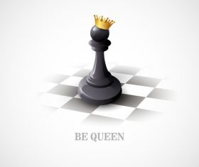 Queen figure chess vector
