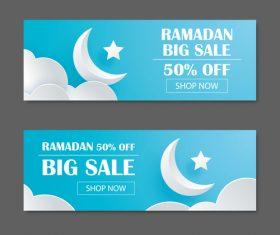 Ramadan big sale banner design vector 01