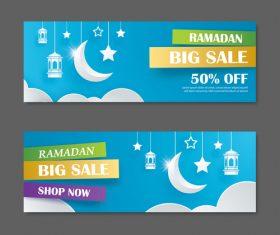 Ramadan big sale banner design vector 02