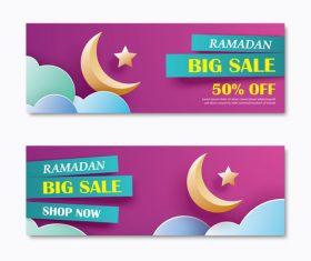 Ramadan big sale banner design vector 03