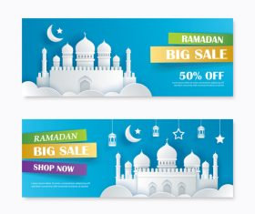 Ramadan big sale banner design vector 05