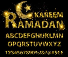 Ramadan kareen number with alphabet vectors