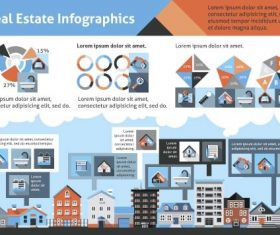 Real estate infographic template vector