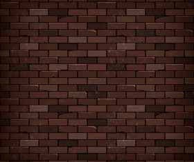 Realistic brick wall background vectors