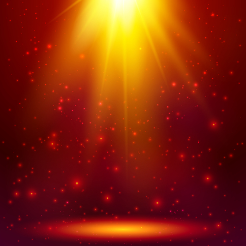 Red cosmic vector background