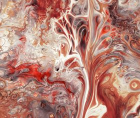 Red liquid Marbling Painting Stock Photo 02