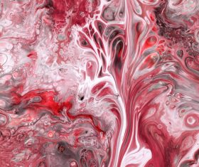Red liquid Marbling Painting Stock Photo 03