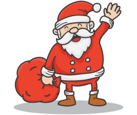 Red santa funny vectors 02