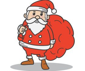 Red santa funny vectors 05