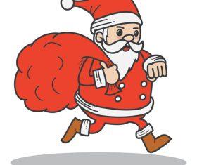 Red santa funny vectors 07