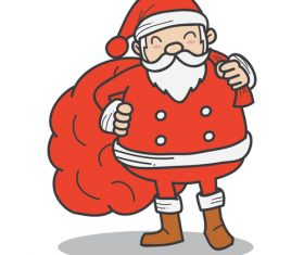 Red santa funny vectors 08