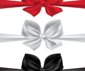 Red with black and white bows illustration vector