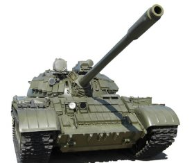 Russian vintage tank Stock Photo 02