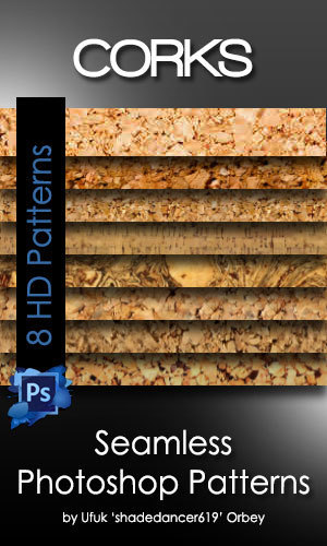 Seamless Cork Photoshop Patterns