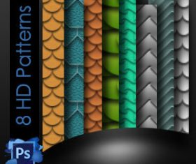 Seamless Roof Tiles Photoshop Patterns