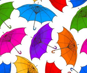 Seamless pattern umbrella vector material