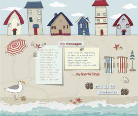 Seaside blog template design vector