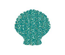 Shell spiral pattern design vector