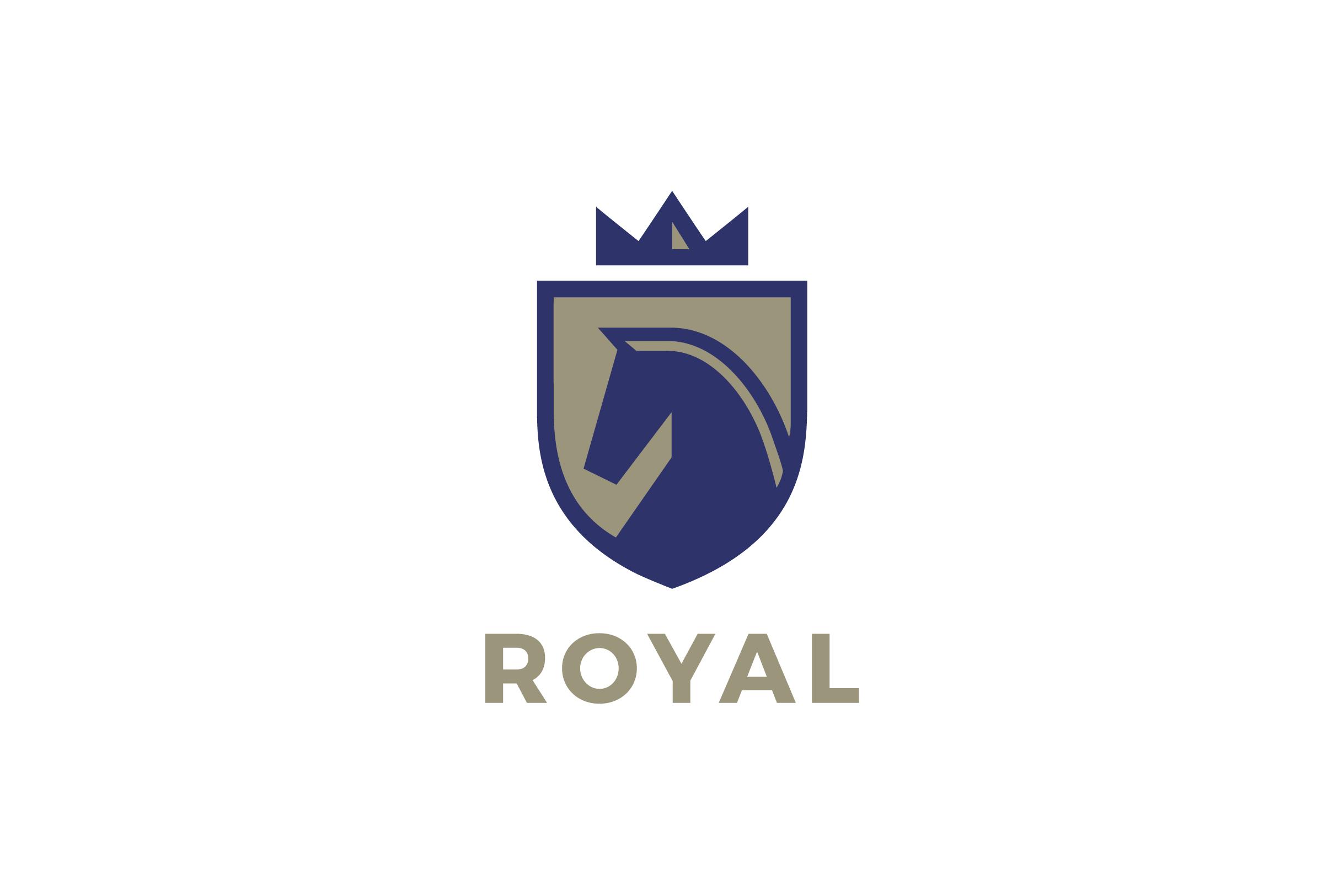 Shield logo horse equestrian sport vector