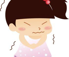 Shivering little girl vector