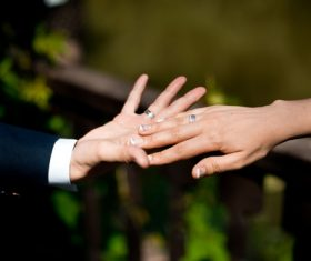 Show wedding ring Stock Photo