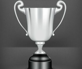 Silver prize design vector material 01
