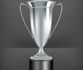 Silver prize design vector material 02