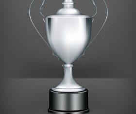 Silver prize design vector material 03