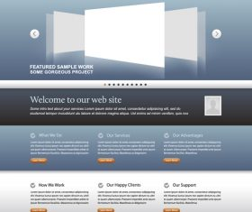 Simple business website template vector