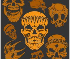 Skull head pattern for t-shirt vector 02