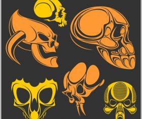 Skull head pattern for t-shirt vector 03