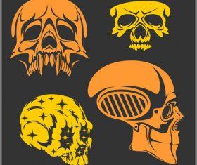 Skull head pattern for t-shirt vector 07